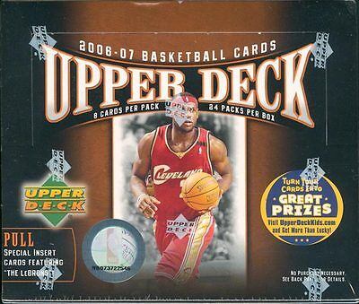 2006-07 Upper Deck Basketball 24 Pack Box FACTORY SEALED