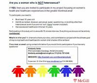 seeking lesbian women to participate in study