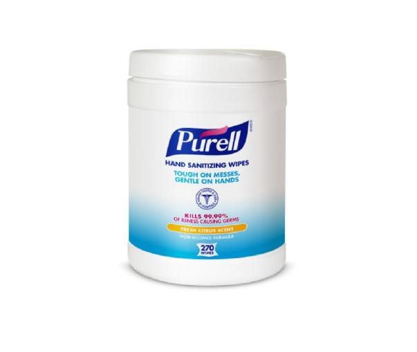 McK Purell Sanitizing Skin Wipe Canister Benzalkonium Chloride Citrus 270 Counts