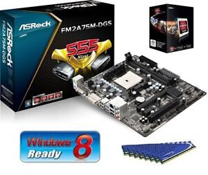 NEW-AMD-A6-5400K-APU-CPU-7540-ASROCK-MOTHERBOARD-8GB-DDR3-MEMORY-RAM-COMBO-KIT