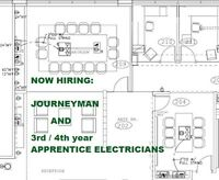 Journeyman and apprentice electricians wanted.