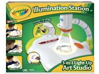 Crayola illumination Station For Tracing Projector Coloured Pens New Batteries