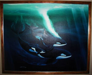 TRADE for Truck - George Sumner ORCAS Oil Painting