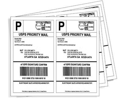 Best Premium Mailing Shipping Labels 8.5x5.5 Usa Half Sheet Self Adhesive
