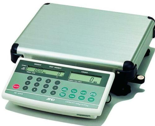 A&D HD-60KB Counting Scale 60 kg x 10 g/ 120lb x 0.02