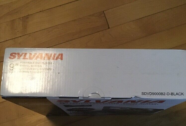 "Sylvania 9"" Portable DVD Player Black SDVD9000B2"