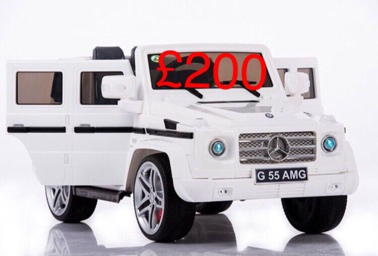 Licensed 12v Mercedes G55 G Wagon Ride On Car With Remote Control Rubber Wheels Leeds