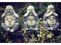 Buddahs garden ornaments
