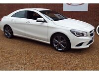 Wedding, Prom car hire in Hampshire. White Mercedes CLA 220 Sport