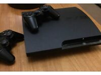 PlayStation 3, 2 wireless controllers & 10 games