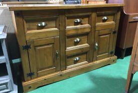 Pine oak wooden chunky sideboard rustic