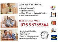 HOUSE REMOVALS/OFFICE RELOCATION/STORAGE/DELIVERIE SERVICES/MAN &VAN ESSEX BASED COMPANY
