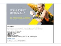 LES MILLS LIVE 2017 - SATURDAY JULY 1ST 6 CLASSES BOOKED SELL PRICE £85 SELLING AS CAN'T GO ANYMORE!