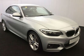 Silver BMW 220d M Sport Coupe 2015 Leather FROM £88 PER WEEK!