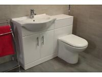 Vanity Unit with WC Unit and WC, Cistern