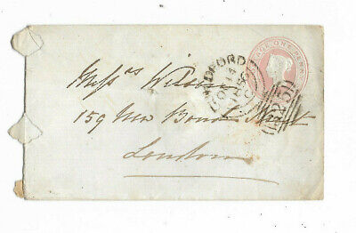 1856 Great Britain 1d PINK #325 Canceled Cover