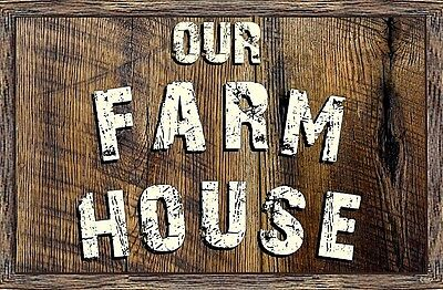 Rustic Wood Plaque ((Our Farmhouse) sign, country, farm, distressed, rustic, home, plaque,)