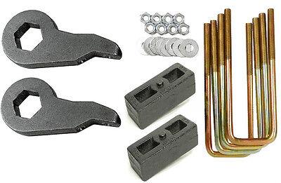 "Lift Kit For 2000-10 Chevy 2500 3500 HD Forged Torsion Keys 2"" Cast Steel Blocks"