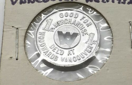 Woodward's  Children Profit Sharing Token Vancouver BC Canada Good For 1 Cent