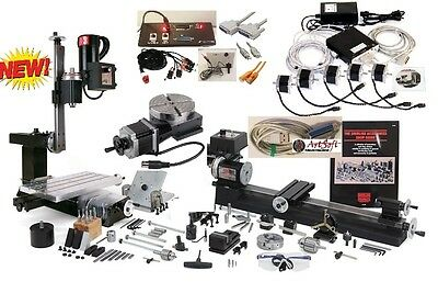 Sherline 6280cnc Ultimate Machine Shop Supercombo Usb Cnc 5 Limit Sw Digi Probe