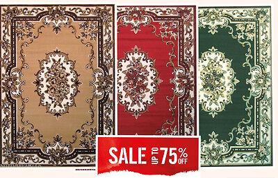 Aubusson Area - 5x7 Area Rug Traditional  Oriental  Persian  Medallion Design Aubusson Carpet