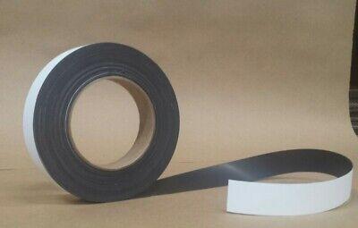 1 X 50 .020 Vinyl Laminated Matte White Flexible Magnetic Strip