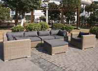 7-pc Sectional Outdoor Rattan Patio Furniture. $1,900 w/Heater