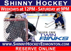 Play Shinny Hockey  - Weekdays at 12PM & Saturday at 9PM