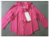 RALPH LAUREN Pink Ruffled Top Size 9M