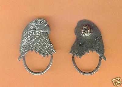 4 wholesale pewter eagle eyeglass holder pins E5124