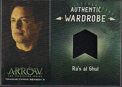 ARROW SEASON 3 BINDER EXCLSV JOHN BARROWMAN RA'S al GHUL WARDROBE RELIC CARD M24