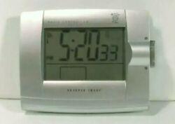 Used Atomic Alarm Clock Sharper Image 130-City World Time OQ315 # 4118 u