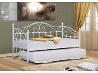 New Single Day beds 2 to choose from white or cream in store today only £139 each