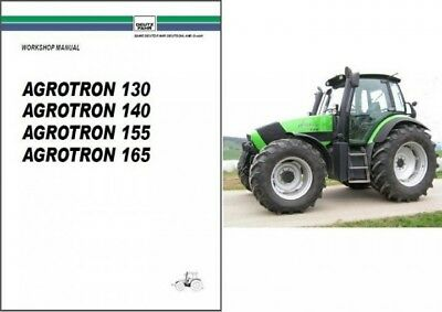 Deutz Fahr Agrotron 130 140 155 165 Tractor Service Manual Cd -- English French