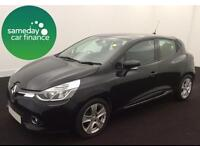 £149.89 PER MONTH BLACK 2013 RENAULT CLIO 1.2 DYNAMIQUE 5 DOOR HATCHBACK PETROL