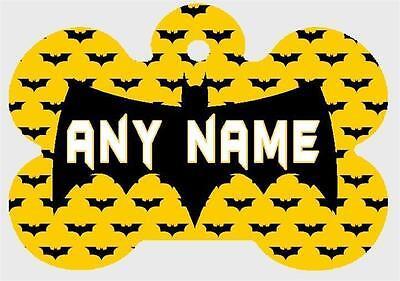 BATMAN Pesonalized PET ID TAGS Custom Any Name Dog Tag Printed on Both Sides