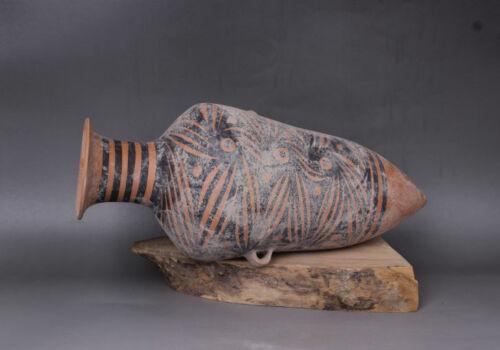 "15.8"" Ancient Majiayao culture Painted pottery tank pot"