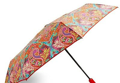 VERA BRADLEY Umbrella PAISLEY IN PARADISE w/ Sleeve AUTO OPEN Travel Work School