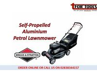 "Briggs & Stratton 22"" Self Propelled Petrol Lawnmower 6hp Aluminium"