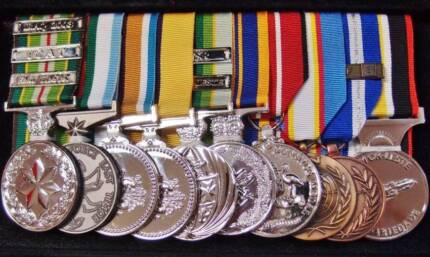 MILITARY MEDAL RIBBONS, FRAMING, MOUNTING, BADGES, ANZAC DAY Bedford Bayswater Area Preview
