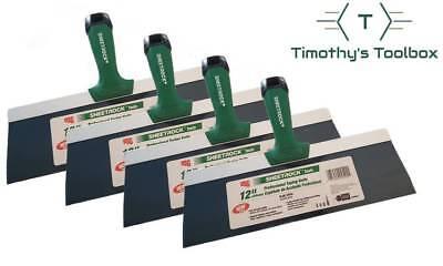 Usg Sheetrock 12 Blue Steel Pro-series Drywall Taping Knife Pack Of 4