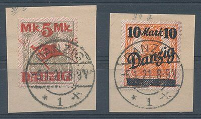 Danzig Nr. 30/31 I, auf Papier, sauber gestempelt, siehe Bild.
