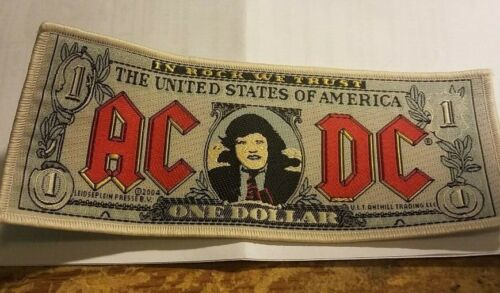 AC/DC ANGUS PATCH NEW  RARE COLLECTABLE WOVEN ENGLISH IMPORT