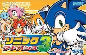 Gameboy Advance Game - Sonic Advance 3