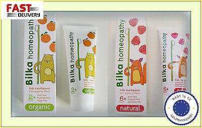 Bilka HOMEOPATHY Kids 2+ and 6+ Fluoride&Sugar Free safe&tasty 50ml toothpaste