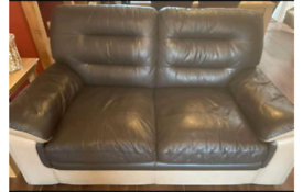 2 italian leather sofas / settee, delivery available