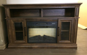 "Unbelievable Deal for a 54"" 2 Door Fireplace Media Console"