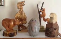 CARVED WOODEN ANIMALS: Locally crafted See all pics