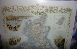 Two Child's Victorian Maps, British Isles/Nova Scotia w/Graphics Stratford Kitchener Area image 2