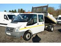2010 60 FORD TRANSIT 2.4 350 DRW 1D 115 BHP DIESEL TIPPER